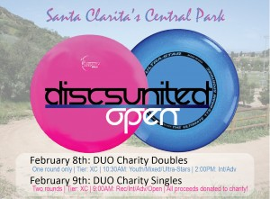 Disc United Open | Charity Singles graphic