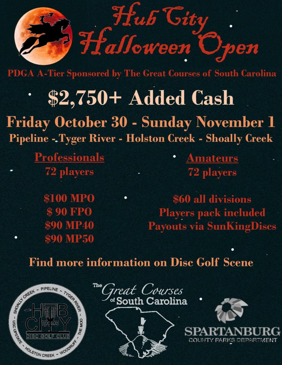 Halloween Events 2020 South Carolina Hub City Halloween Open sponsored by The Great Courses of SC (2020