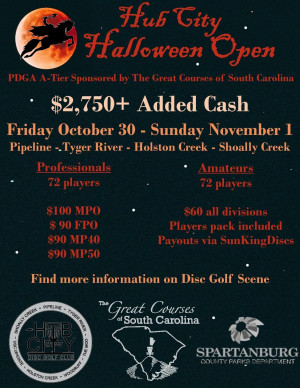 Hub City Halloween Open sponsored by The Great Courses of SC graphic