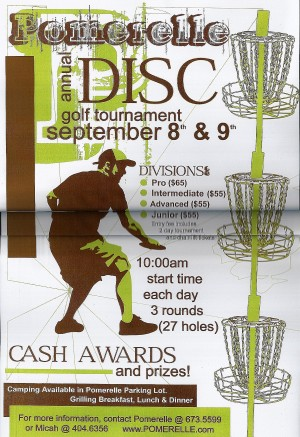 2nd Annual Pomerelle Mountain Disc Golf Tournament graphic