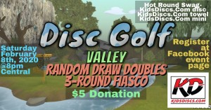 Disc Golf Valley Random Doubles 3-Round Online Tournament graphic