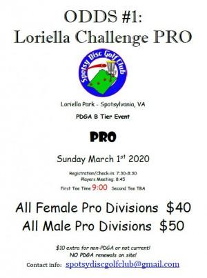 ODDS #1 - Loriella Challenge PRO graphic