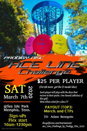 Ace Line Challenge Powered by Prodigy Disc graphic