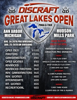 Discraft Great Lakes Open - Ams graphic