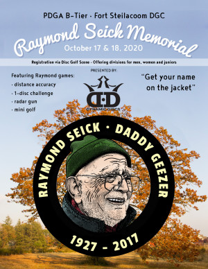 Raymond Seick Memorial sponsored by Dynamic Discs and Dupont Physical Therapy graphic