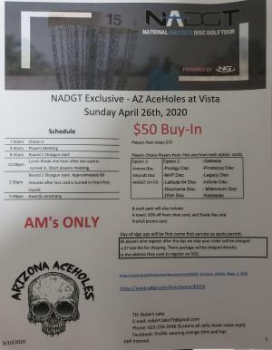 NADGT Exclusive - AZ AceHoles at Vista graphic