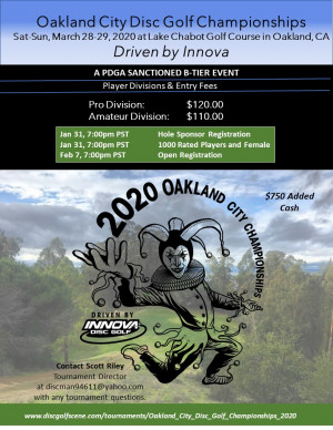 Oakland City Disc Golf Championships driven by Innova graphic