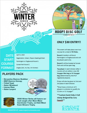 MVP Winter Series Circuit Event Sponsored by Adopt Disc Golf graphic
