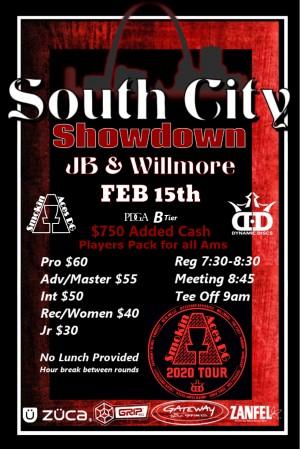Smokin Aces presents South City Showdown: Sponsored by Dynamic Discs graphic