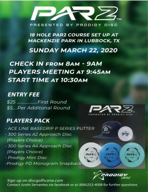 Par2 Presented by Prodigy Disc graphic