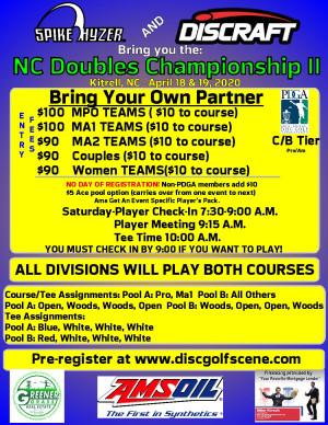 Discraft Presents: North Carolina Doubles Championship II graphic