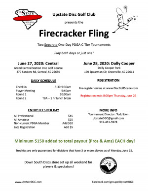 Firecracker Fling 1: Central graphic