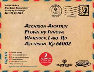Maverick DG: Atchison Aviatrix 2020 flown by Innova Discs graphic
