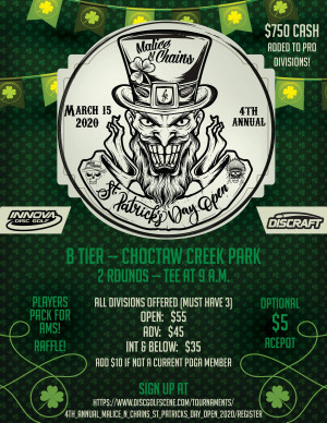 4th Annual Malice N Chains St Patrick's Day Open graphic