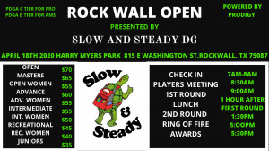 Rockwall Open. Presented by Slow and Steady DG graphic