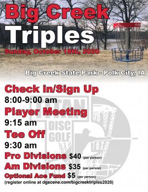 Big Creek Triples 2020 graphic