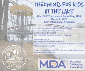 Throwing for Kids at the Lake, MDA Fundraiser graphic