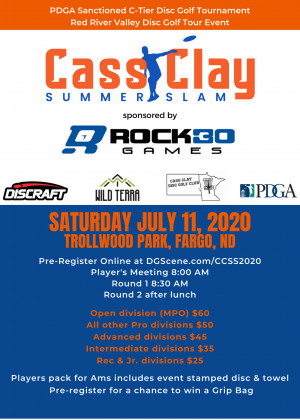 Cass Clay Summer Slam sponsored by Rock 30 Games graphic