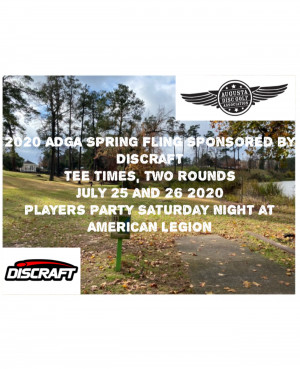 ADGA Spring Fling Sponsored by Discraft graphic