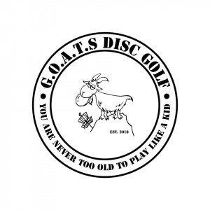 G.O.A.T.S. at Belgrade Lakes Disc golf graphic