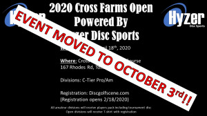 Cross Farms Open Powered By Hyzer Disc Sports graphic