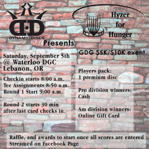 Dynamic Discs Present Hyzer 4 Hunger (GDG $5K/$10K event) graphic