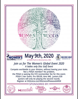 ~Canceled~  Women of the Woods WGE graphic