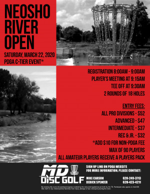 Neosho River Open 2020 graphic