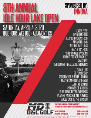 Idle Hour Lake Open 2020 graphic