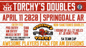 Dynamic Discs NWA Presents: Torchy's Tacos Doubles graphic