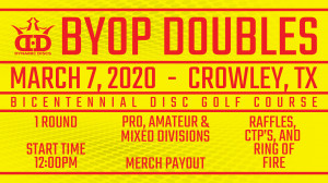 Whale Pants BYOP Doubles Presented by Dynamic Discs and Crowley Disc Golf Club graphic
