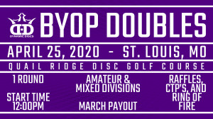 Whale Pants BYOP Doubles Presented by Dynamic Discs and Smokin Aces DG graphic