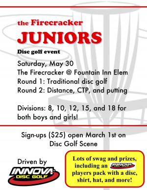 Firecracker Juniors driven by Innova graphic