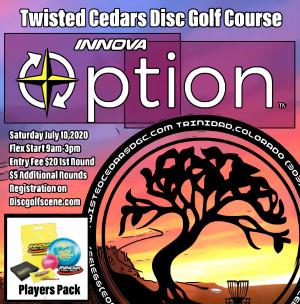 "Twisted Cedars DGC ""Innova Option"" presented by Innova graphic"