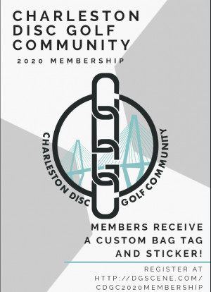 Charleston Disc Golf Community 2020 Club Membership graphic