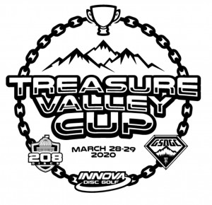 Treasure Valley Cup Driven by Innova Discs and 208 Discs graphic
