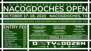 Dynamic Discs Presents the Nacogdoches Open graphic