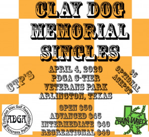Clay Dog Memorial Singles graphic