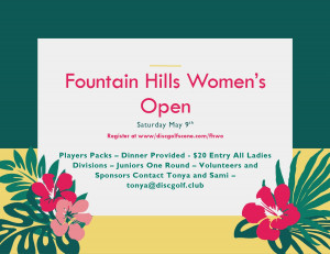 WGE Fountain Hills Women's Open presented by Avid Contracting LLC graphic