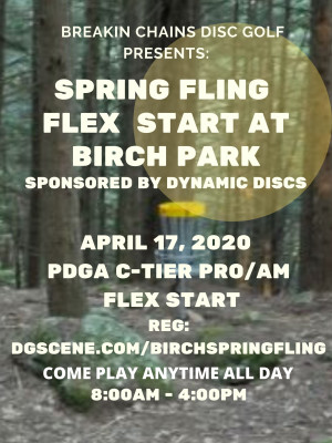 Spring Fling Flex At Birch Park Sponsored by Dynamic Discs graphic