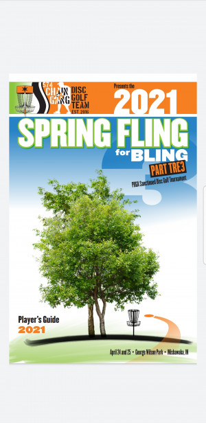 574 Chain Gang Disc Golf Team Presents Spring Fling For Bling Part Tre3 (Intermediate and Open Divisions) graphic