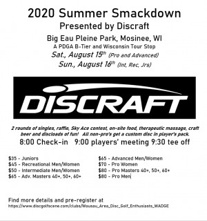 2020 Summer Smackdown Presented by Discraft (Pros and Advanced) graphic