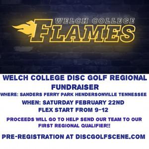 Welch College Disc Golf Club Regional Fundraiser graphic
