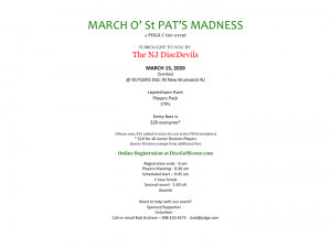 March O' St. Pat's Madness 2020 graphic