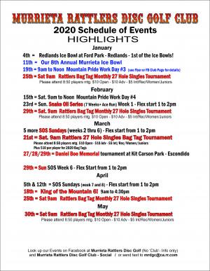 Murrieta Rattlers Disc Golf Club Bag Tag tournament graphic