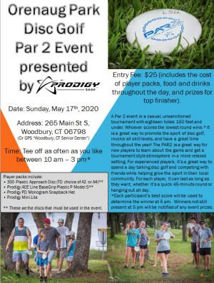 Orenaug Park Disc Golf Par 2 powered by Prodigy graphic