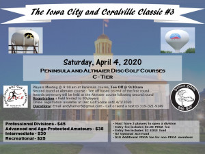 Iowa City and Coralville Classic #3 by Vicious Circle Disc Golf graphic