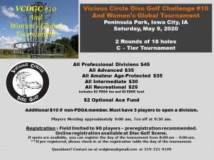 10th Annual Vicious Circle Disc Golf Challenge and WGE by Vicious Circle Disc Golf graphic