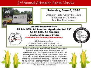 2nd Annual Altmaier Farm Classic by Vicious Circle Disc Golf graphic