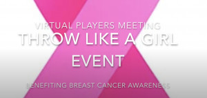 Throw Like a Girl Event Benefiting Breast Cancer Awareness graphic
